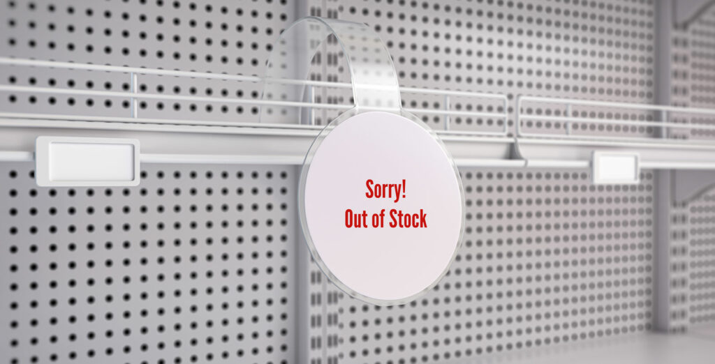 amazon out of stock